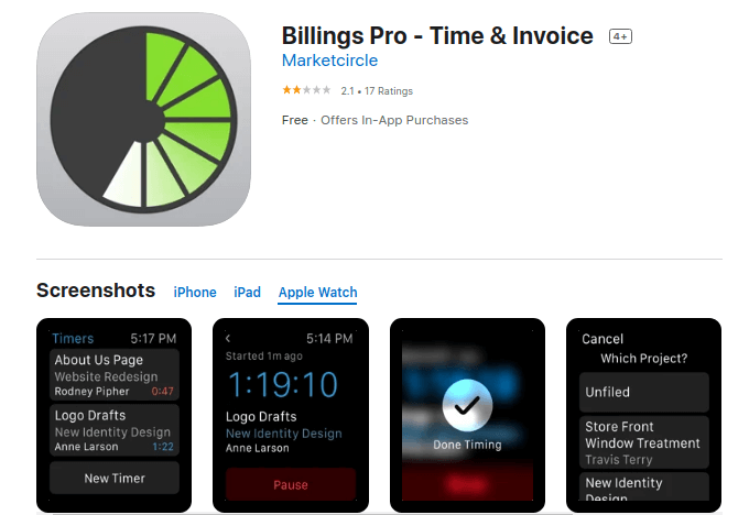 Billings Pro - Time and Invoice