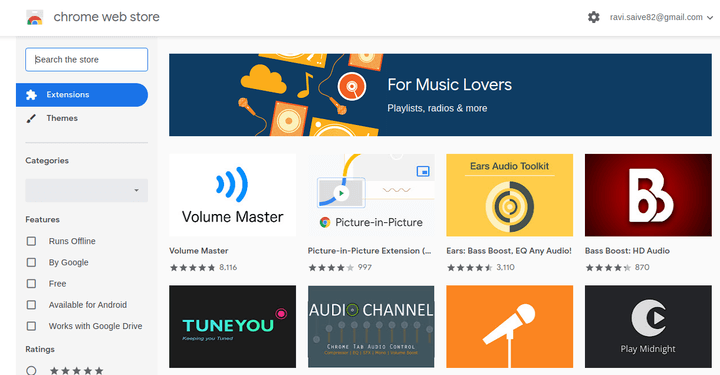 Google Chrome Music Extensions