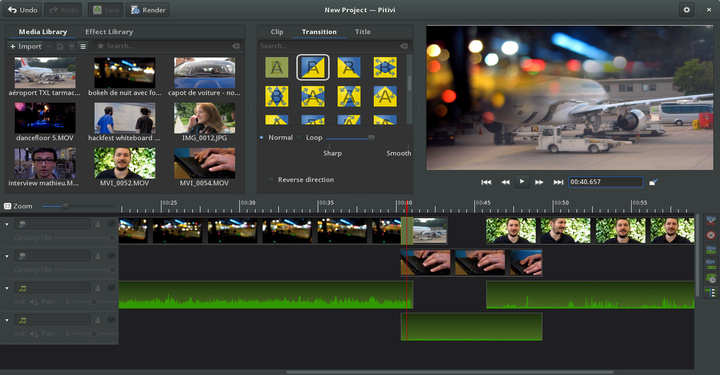 Pitvi Free Video Editor for Linux