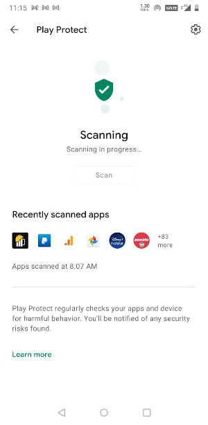 Play Protect Scan