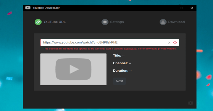 youtube-dl-gui - GUI for youtube-dl