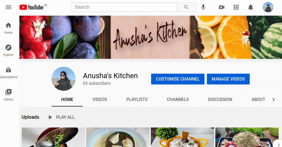 Customise Channel