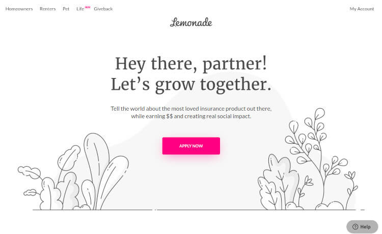 Lemonade Affiliate Program
