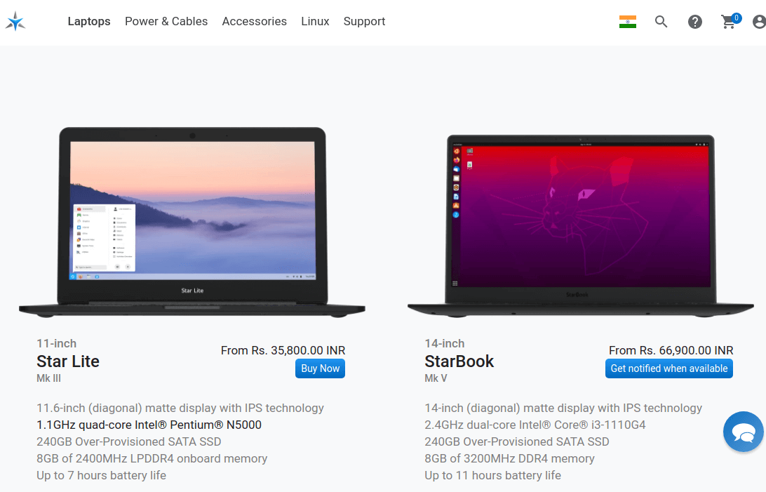 Starlabs Linux Laptops