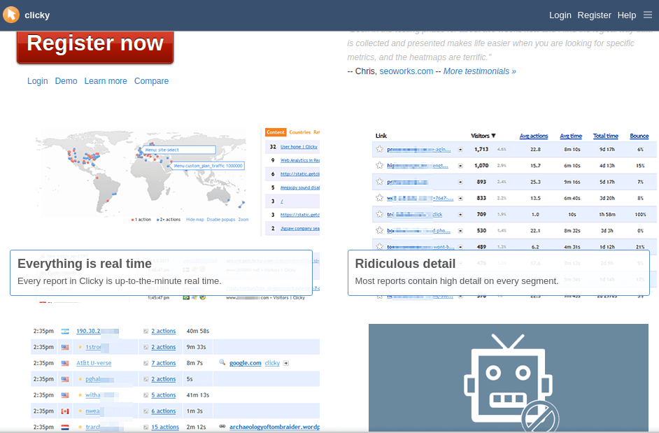 Clicky - Real Time Web Analytics