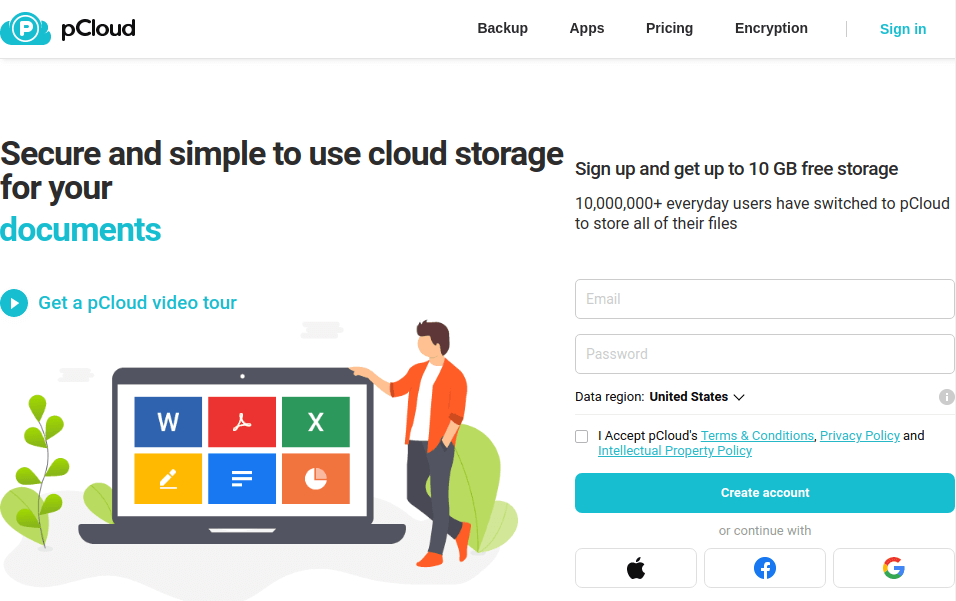 pCloud - Secure and Simple to Use Cloud Storage