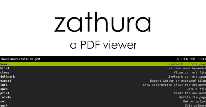 Zathura - Document Viewer for Linux